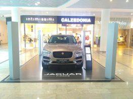 Exposing car Jaguar F-Pace Car at Ocean Plaza