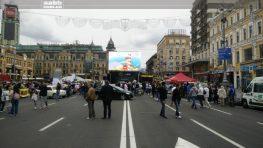Advertising Luxoptica on the videoscreen