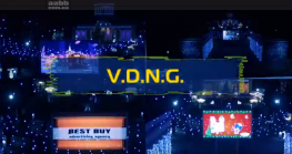 Placement of TM Torchin on the video screen VDNH