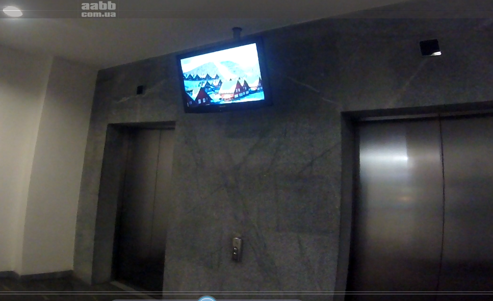 Video advertising on LCD monitors in the shopping center Passage of the city of Dnepr