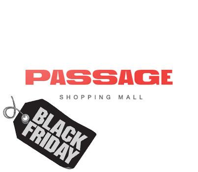 "Audio advertising ""Black Friday"" in Passage"