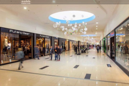 Advertising in the shopping center «Riviera»