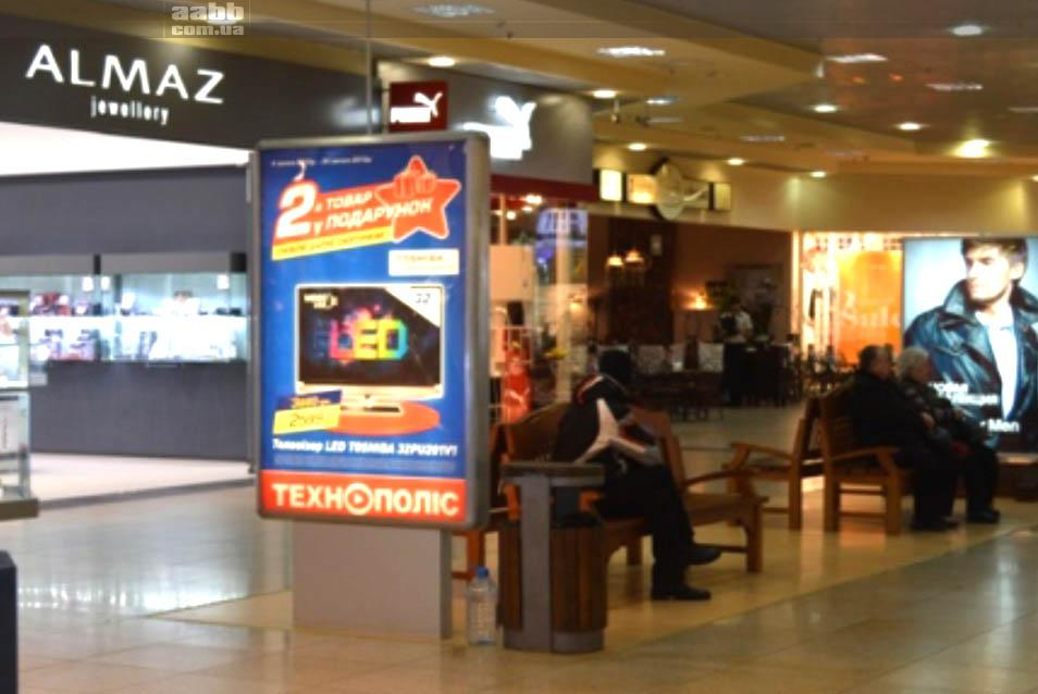 Реклама на сітілайтах в ТРЦ Караван