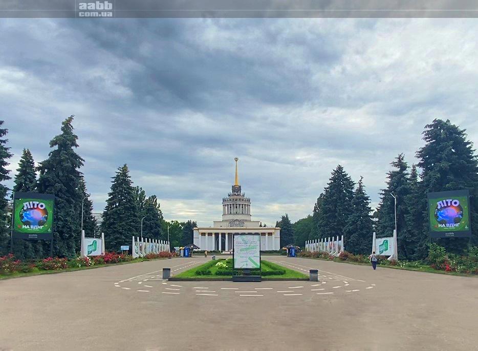 Реклама на оновлених відеоекранах ВДНГ (м.Київ)