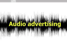 Audio advertising