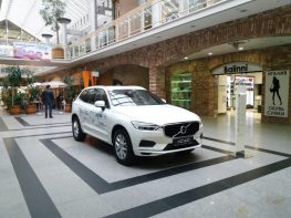Exposition of cars in the shopping center Grand Plaza
