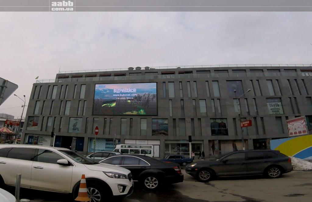 Реклама в ТЦ Пассаж города Днепр. Реклама Буковель