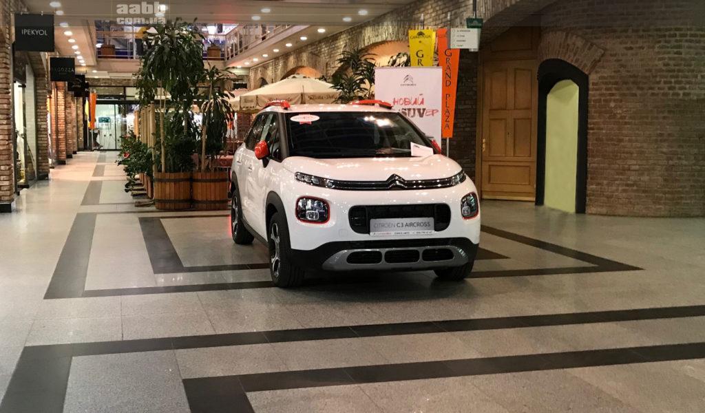 Экспонирование авто в ТРЦ Grand Plaza города Днепр