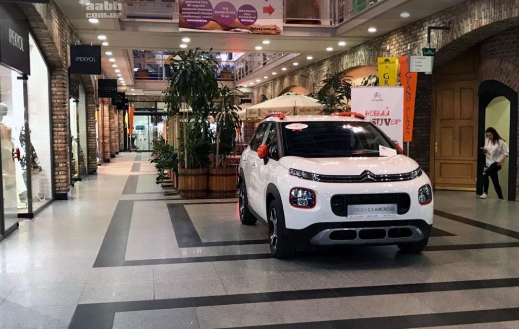 Експонування авто в ТРЦ Grand Plaza Дніпро
