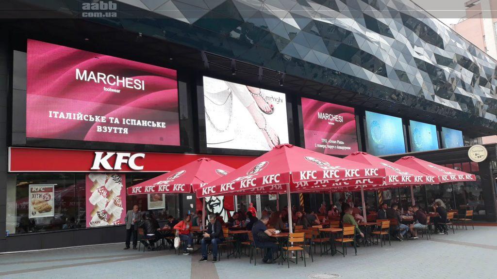 Реклама на медіафасаді ТРЦ Ocean Plaza Київ