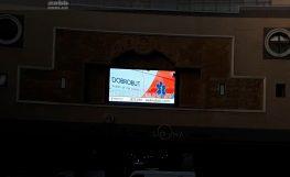 Реклама на відеоекрані ТЦ Арена сіті (вересень 2018)