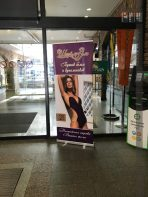 Advertising in the mall Grand Plaza