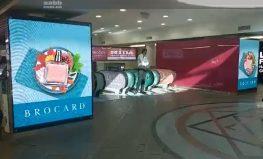 Реклама на видеоэкране ТЦ Globus (октябрь 2018)