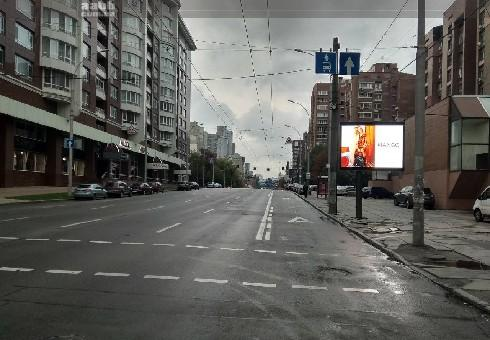 Advertising on videoboards in the city of Kiev