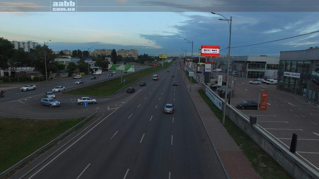 Реклама на мегаекрані Віді Автосіті