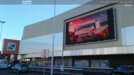 Advertising on the video screen in Lutsk