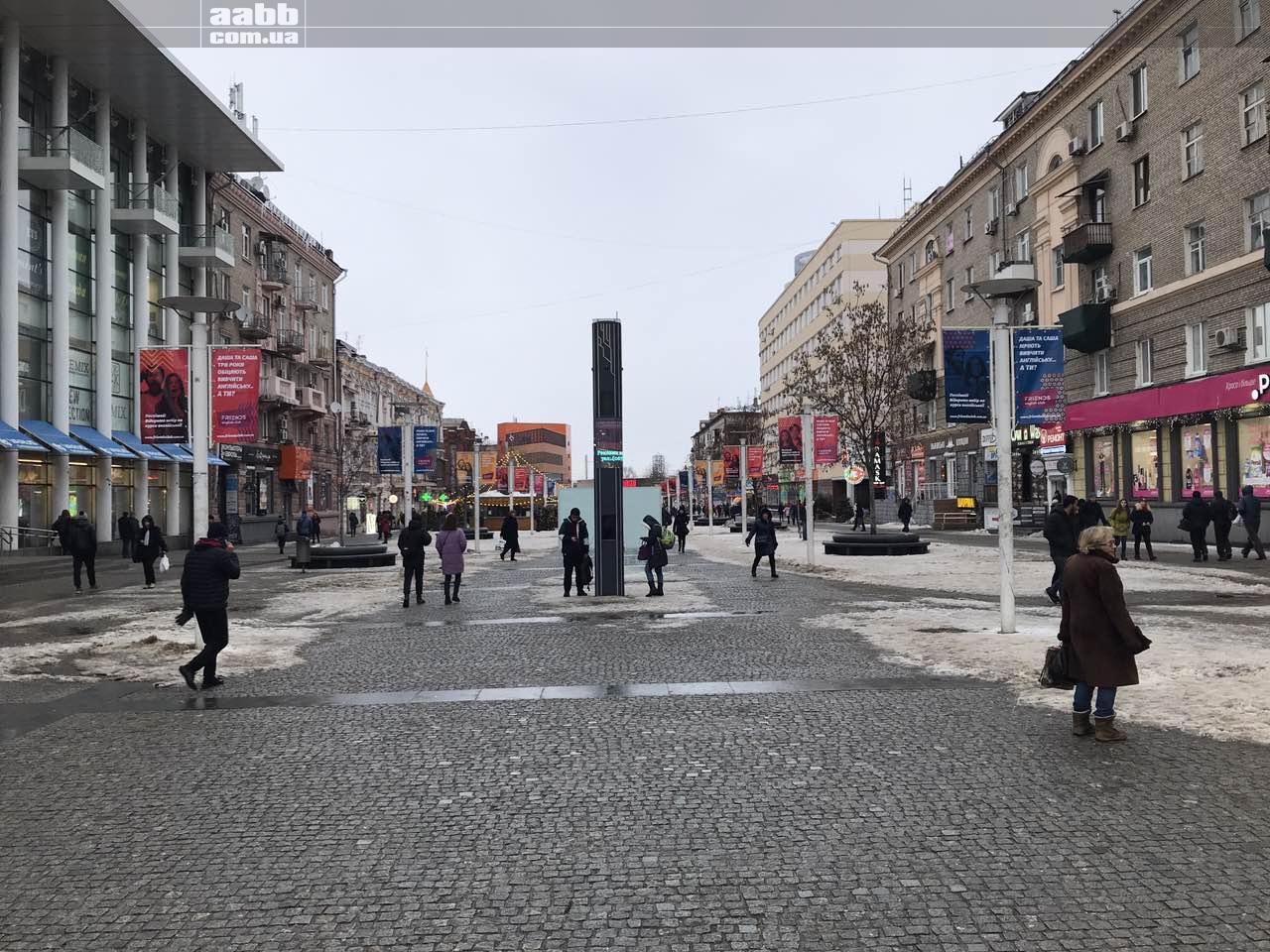 Реклама на прапорах в місті Дніпро (січень 2019)