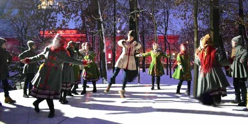 Концерт в парку Шевченка в новорічні свята