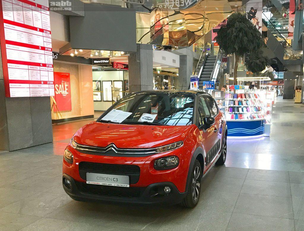 Експонування авто у ТЦ Пасаж