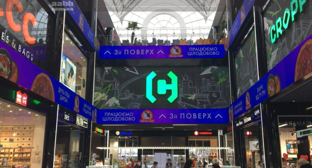 Advertising in Neo Plaza shopping mall (March 2020)