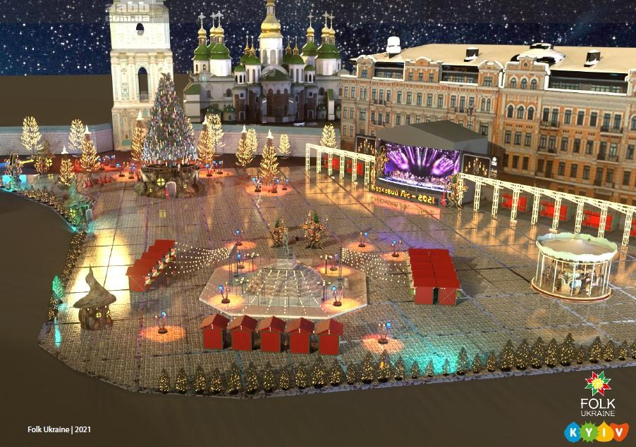 New Year's advertising in Kyiv