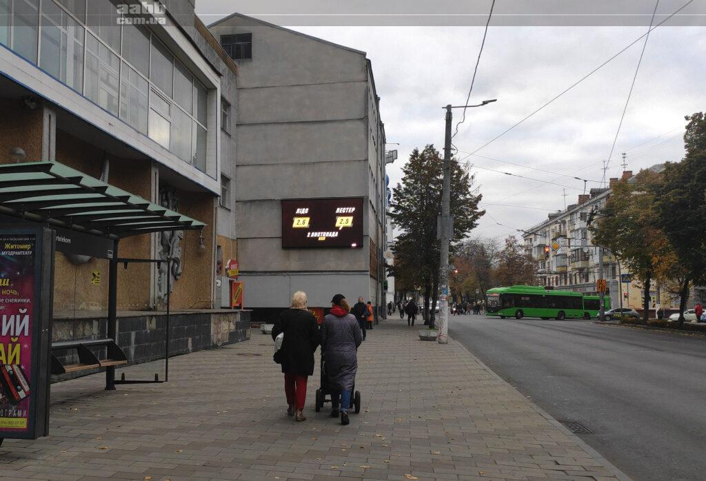 Реклама на відеоекрані у м. Житомир