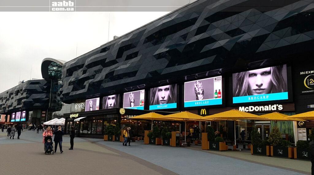Реклама на 9-ти екраназ медіафасаду ТРЦ Ocean Plaza