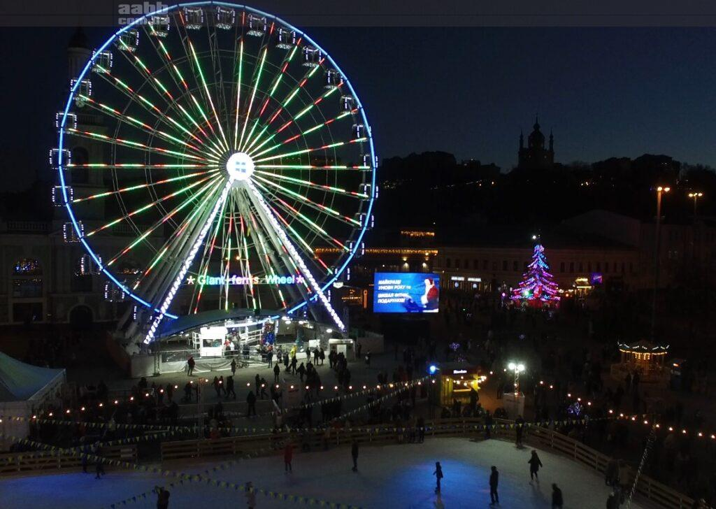 Реклама Спортлайф на Контрактовій площі в період новорічних свят